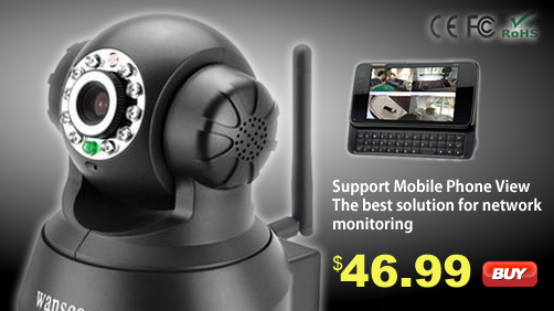 Wanscam - Black Wireless IP Surveillance Camera with Angle Control